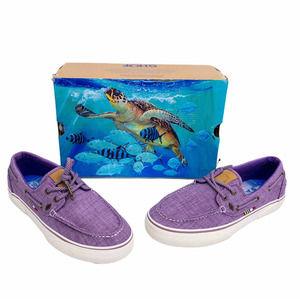 Guy Harvey Lavender Gulf Linen Boat Shoes 9